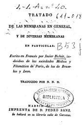 Tratado de las membranas en general y de diversas membranas en particular