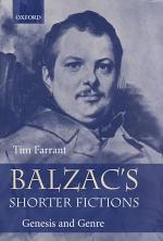 Balzac's Shorter Fictions