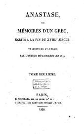 Anastase, ou Mémoires d'un Grec: Volume1