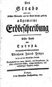 Allgemeine Erdbeschreibung: Europa, Band 1
