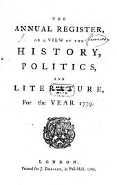 The Annual Register: World Events .... 1779 (1780)