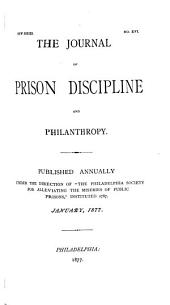 The Journal of Prison Discipline and Philanthropy: Issues 16-25