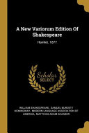 A New Variorum Edition Of Shakespeare PDF