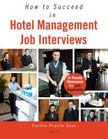 How to Succeed in Hotel Management Job Interviews PDF