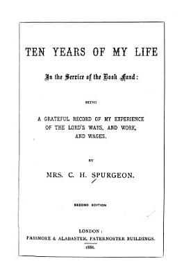 Ten Years of My Life in the Service of the Book Fund     PDF