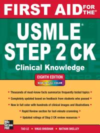 First Aid for the USMLE Step 2 CK  Eighth Edition PDF