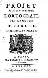 Projet pour perfectioner l'ortografe des langues d'Europe