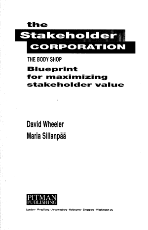 The Stakeholder Corporation PDF