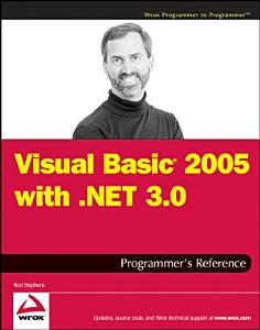 Visual Basic 2005 with  NET 3 0 Programmer s Reference PDF