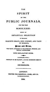 The Spirit of the Public Journals: Volume 1
