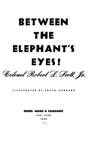 Between the Elephant's Eyes!