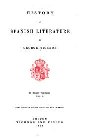 History of Spanish literature: Volumen 2