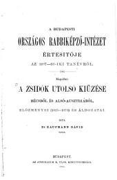 A zsidok utolsó kiüzése Bécsböl és alsó-Ausztriából, elözményei (1625-1670) és áldozatai