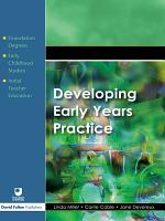 Developing Early Years Practice PDF