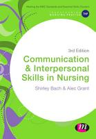 Communication and Interpersonal Skills in Nursing PDF
