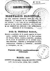 Farmacopea veterinaria y formulario magistral...