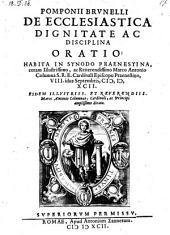 De ecclesiastica dignitate ac disciplina oratio (etc.)