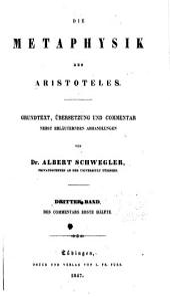 Die Metaphysik des Aristoteles: Commentar