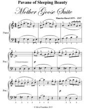 Pavane of Sleeping Beauty Mother Goose Suite - Easy Piano Sheet Music