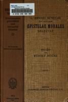 L Annaei Seneca Ad Lucilium epistulae morales selectae PDF
