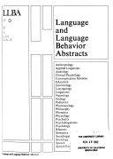 Language and Language Behavior Abstracts