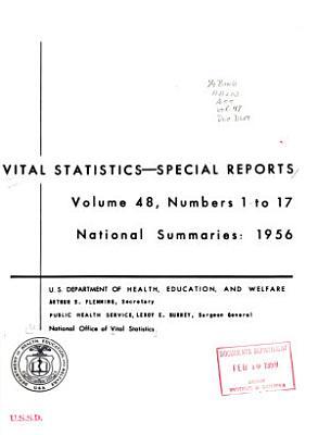 Vital Statistics  Special Reports PDF