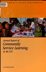 Annual Report       Community Service Learning in the California State University PDF