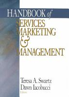 Handbook of Services Marketing and Management PDF