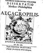Diss. med. philos. de aegagropilis
