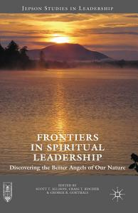 Frontiers in Spiritual Leadership Book