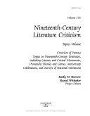 Download Nineteenth Century Literature Criticism Book