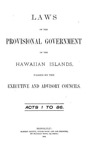 Statute Laws of His Majesty Kamehameha III