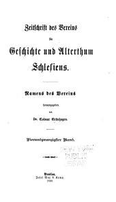 Zeitschrift des Vereins für Geschichte und Alterthum Schlesiens: Band 24
