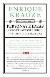Personas e ideas (Ensayista liberal 1): Conversaciones sobre historia y literatura