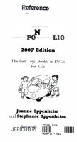 Oppenheim Toy Portfolio PDF