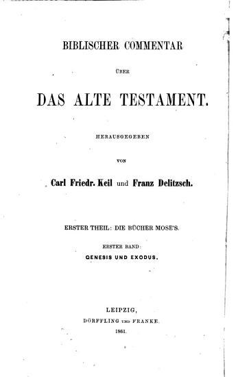 Biblischer Commentar   ber Das Alte Testament PDF