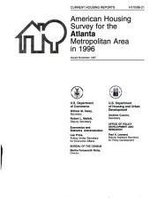 Current housing reports: American housing survey for the Atlanta metropolitan area in ...