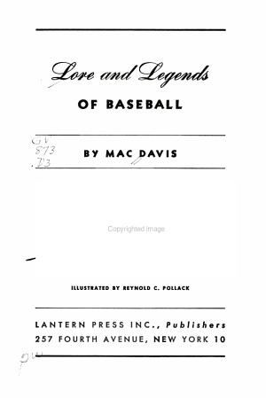 Lore and Legends of Baseball PDF