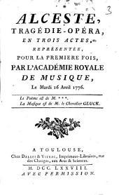 Alceste: tragédie-opéra en trois actes