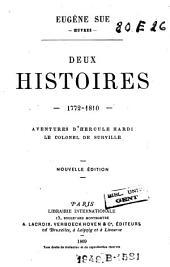 Deux histoires 1772-1810: Aventures d'Hercule Hardi. Le colonel de Surville