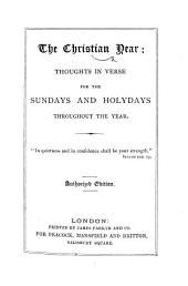 The Christian Year ... [By John Keble.] Authorized Edition. [With Plates.]