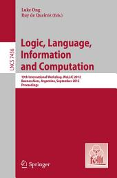 Logic, Language, Information, and Computation: Edition 2