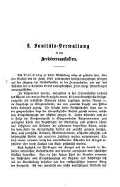 General-Bericht über die Sanitäts-Verwaltung im Königreich Bayern: Band 9