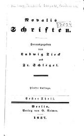 Novalis schriften: th. Heinrich von Ofterdingen