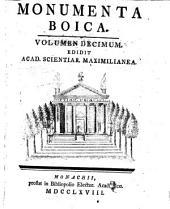 Monumenta Boica: Band 10