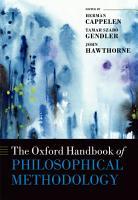 The Oxford Handbook of Philosophical Methodology PDF