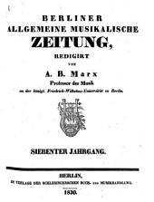Berliner allgemeine musikalische Zeitung: Band 7