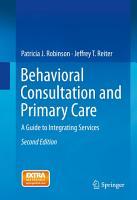 Behavioral Consultation and Primary Care PDF