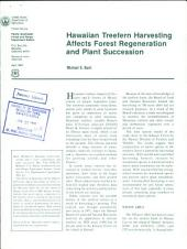 Hawaiian treefern harvesting affects forest regeneration and plant succession