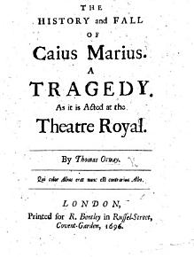 The History and Fall of Caius Marius  A tragedy in five acts and in verse PDF